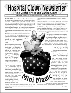 Front Page of Volume 1 no 4 with photo of Mini the rabbit puppet