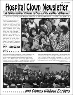 Front Page of Vol 10 No 2 featuring Moshe Cohen and Clowns Without Borders