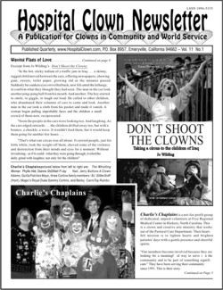 Frong Page of Vol 11 No 1 featuring Don't Shoot The Clowns and Charlie's Chaplains