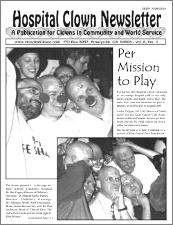Front Page of Vol. 6 No 1 showing  the doctors at  Calgary 911 Life Shavers - a fund -razor for Kids Cancer Foundation of Alberta Canada