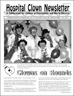 Front Page of Vol 7 No 1  showis of Clowns on Rounds from Albany New York
