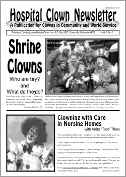Front Page of Vol 8 No 2 featuring the Shrine Clowns and Anita Thies