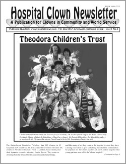 Front Page of Vol 8 No 3 featuring the Theodora Children's Trust of the UK